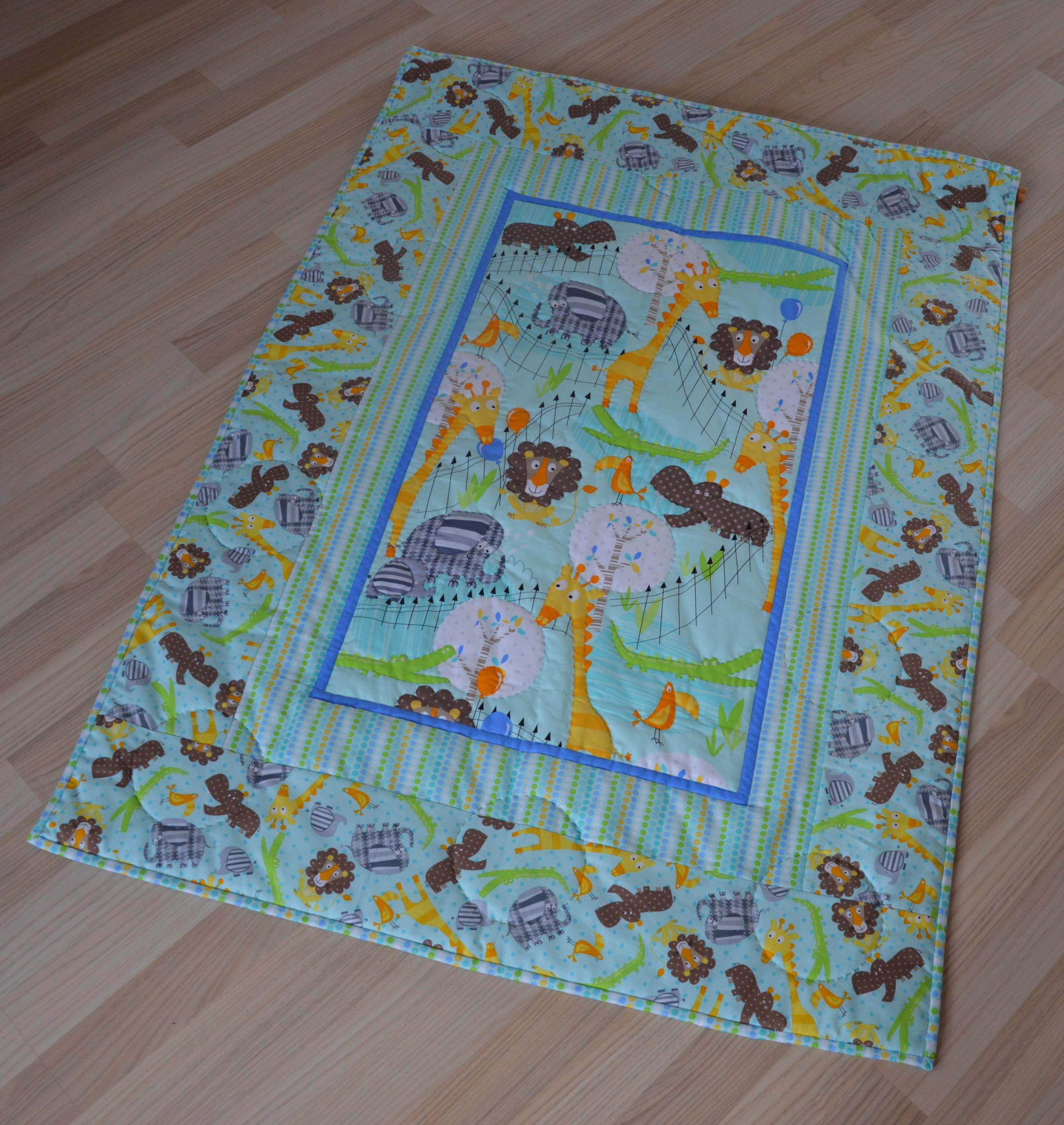 patchwork babytæppe mønster